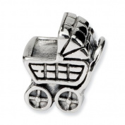Sterling Silver Reflections Baby Carriage Bead