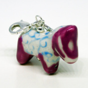 Dala Horse Charm/Pendant - Painted Porcelain