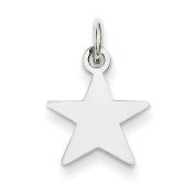 Sterling Silver Engraveable Star Disc Charm - JewelryWeb