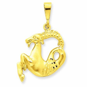 Genuine 14K Yellow Gold Capricorn Zodiac Charm 3.4 Grammes Of Gold