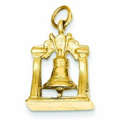 Genuine 14K Yellow Gold Solid Polished 3-Dimensional Liberty Bell Charm 3.6 Grammes Of Gold