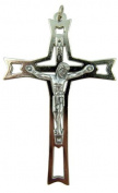Crucifixion of Christ 6.4cm Silver Tone Crucifix Pendant for Jewellery Making