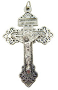 Behold This Heart Pardon Cross Silver Tone Crucifix Pendant for Jewellery Making