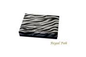 Regal Pak One-Piece Zebra Texture Cotton Filled Box 18cm x 13cm x 2.9cm H