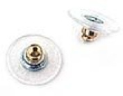 Ear Back and Plastic Comfort Disc with Gold Plated Surgical Steel Base