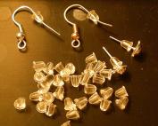 100pcs Translucent Rubber Earring Stopper Backs 4mmx6mm~Jewellery Findings~