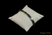 Regal Pak ® Medium White Leatherette Bracelet/Watch Pillow 10cm X 10cm
