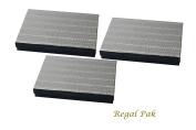 Regal Pak Three-Piece Silver Texture Cotton Filled Box 18cm x 13cm x 2.9cm H