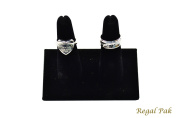 Regal Pak One Piece Black Velvet 2 Finger Ring Stand 10cm X 5.7cm X 6cm H