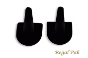 Regal Pak Two Piece Black velvet 1-Finger Ring Stand 5.1cm X 5.1cm X 5.1cm H