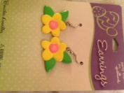 Bright Yellow Flower Earrings Hallmark Party Express