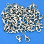 60 Lobster Clasps Nickel Plated Jewellery Beading 11.5mm