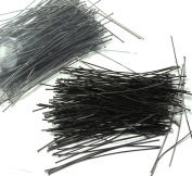 240 Head Pins .020dia X 5.1cm Black Oxide Plating Over Brass Thin 24 Gauge Wire Beadsmith Headpins