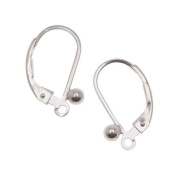 Sterling Silver Earrings Leverbacks With Ball