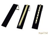Regal Pak ® Three-Piece Black Velvet Bracelet Display Ramp 3.8cm X 20cm X 5.4cm H