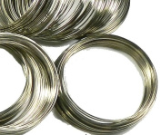 Memory Beading Wire, Spring Steel, 2-1/4 Inch Bracelet, 0.55-0.60mm Thick. Approximately 200 Loops.