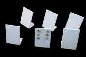 Regal Pak ® Six-Piece White Leatherette Earring/Pendant Stand 5.1cm X 3.8cm X 7.6cm H