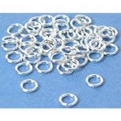 50 Sterling Silver Open Jump Rings Jewellery Findings 22 Gauge 4mm