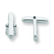 Sterling Silver Cuff Link Stud Back