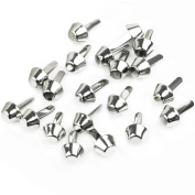 RHX 20 PCS 10mm Silver Mushroom Spike Studs Rivet Punk Bag Belt Leathercraft DIY New