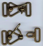 Antique Brass Finish Over Latch Cloak or Coat Clasp.