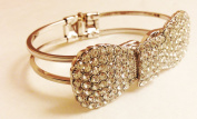 Bow Bracelet with SParkling Crystal