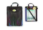Chocolate multi coloured Pad Pocket Satchel Messenger Apple Ipad Handbag/Case
