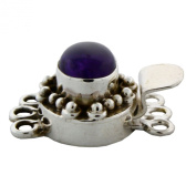 Sterling Silver Gemstone Two Strand Box with Tongue Jewellery Clasp