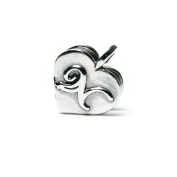 Novobeads Signature N Sterling Silver Clasp - Made in USA w imported materials - Fits all major bead bracelets
