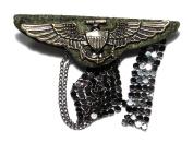 Eagle Wing Anchor Army Military Medal Ribbon Fashion Costume Badge Brooch /Pin