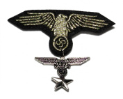 Gold Eagle Wing Star Iron Cross Army Military Medal Ribbon Fashion Costume Badge Brooch /Pin