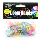 Touch of Nature 110-Piece Loom Bands, Glow-in-The-Dark Multi-Colour Assortment