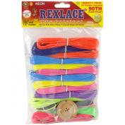 Pepperell Rexlace 90th Anniversary Variety Jewellery Making Pack, 450-Feet, Neon