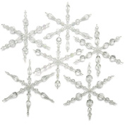 Set of 6 Snowflake Christmas Ornaments - Exclusive Beadaholique Jewellery Kit