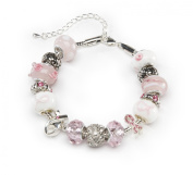 DARICE 1999-5281 Mix and Mingle Starter Jewelery Making Kit with Braclet and Beads, Pink Ribbon