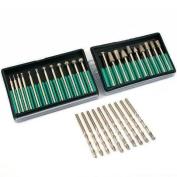 32Pc Diamond Bur Twist Drill Bits Set 0.3cm Shank Tools