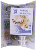 "Art Night Out Party Kit for Wire Jewellery Necklaces or Bracelets, Silver with ""Hot"" Colours"