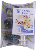"Art Night Out Party Kit Crochet Wire Jewellery Necklaces or Bracelets, Silver with ""Cool"" Colours"