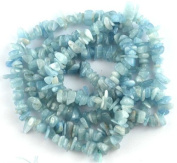 "BAROQUE NUGGET CHIP NATURAL AQUAMARINE 3X6-5X10MM GEMSTONE LOOSE BEADS 36"" New"