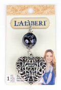EK Success Brands Laliberi Scarf Pendant, Filigree Heart