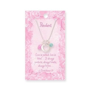 Pendant Heart 46cm Chain w/ verse card