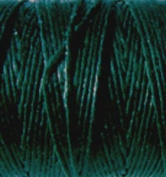 Waxed Irish Linen-Dark Forest Green. Sold per 10 yards of 4-ply