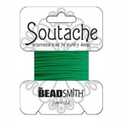 Beadsmith Soutache Braided Cord 3mm Wide - Dragon Green