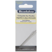 Beadalon Collapsible Eye Needles 6.4cm Heavy 4 Pack