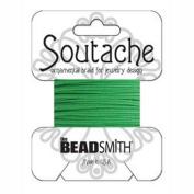 Beadsmith Soutache Braided Cord 3mm Wide - Grass Green