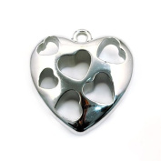 Scarf Accessories Pendant, Silver Heart Pendant, Hollow Out Design, PT-385