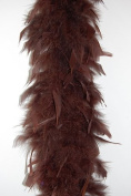 65 Gramme Chandelle Feather Boa - BROWN 2 Yards