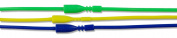 Fun Pack Easy Clasp Rubber Necklaces 41cm 3/Pkg-#2 Yellow, Green and Blue