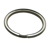 Amanaote Metal Silvery 3.7cm Diameter Oval Shape Keyring Key Ring Chain Split Ring