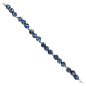 Fiona 8mm Round Blue Collage Stone Beads Strand
